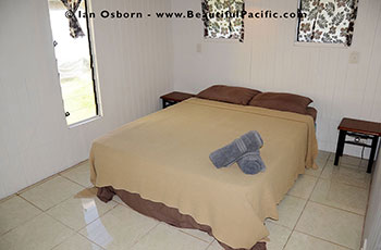 bedroom of the bungalow at Tianas Beach