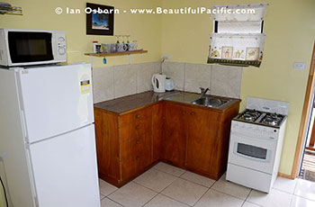 Kitchen of the Studio Room at Tianas Beach