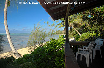 View from the veranda of the Studio Unit at Tianas on Muri Beach